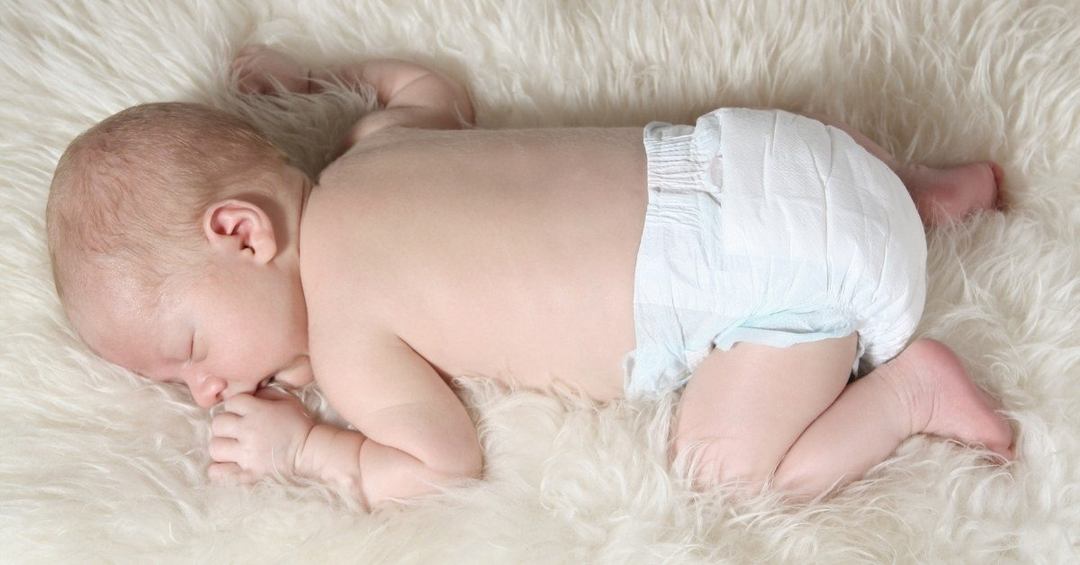 How long can a baby wear a diaper at night