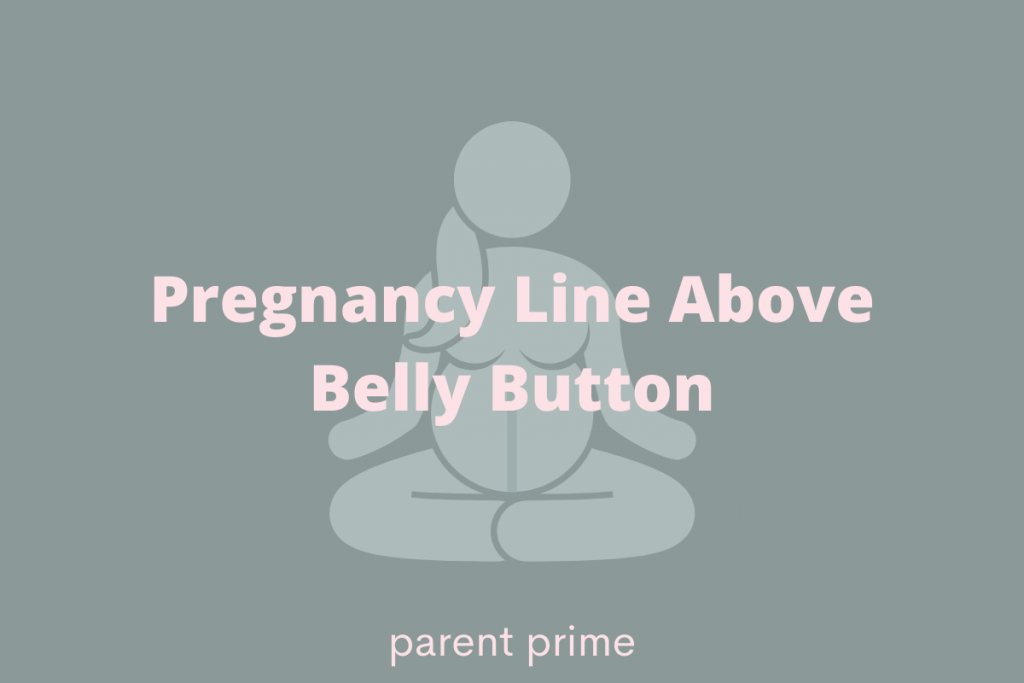 pregnancy line above belly button
