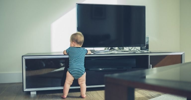 baby proof tv stand