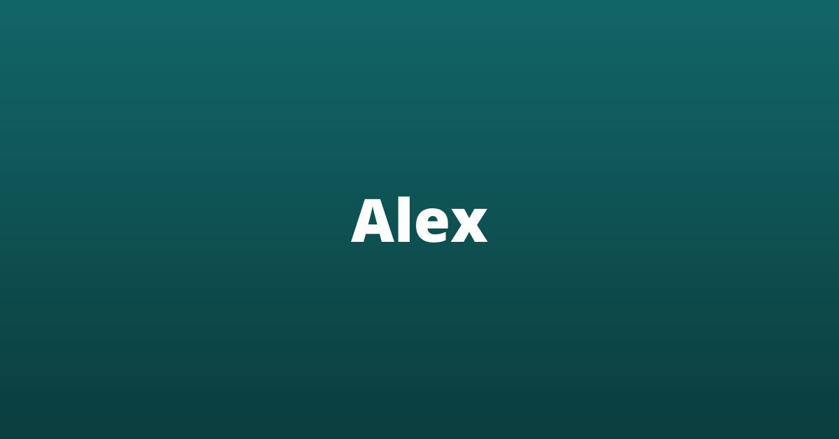 middle names for alex