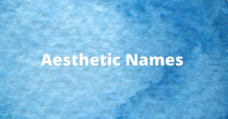 aesthetic boy and girl names